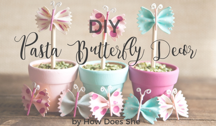 diy pasta butterfly decor party ideas ph